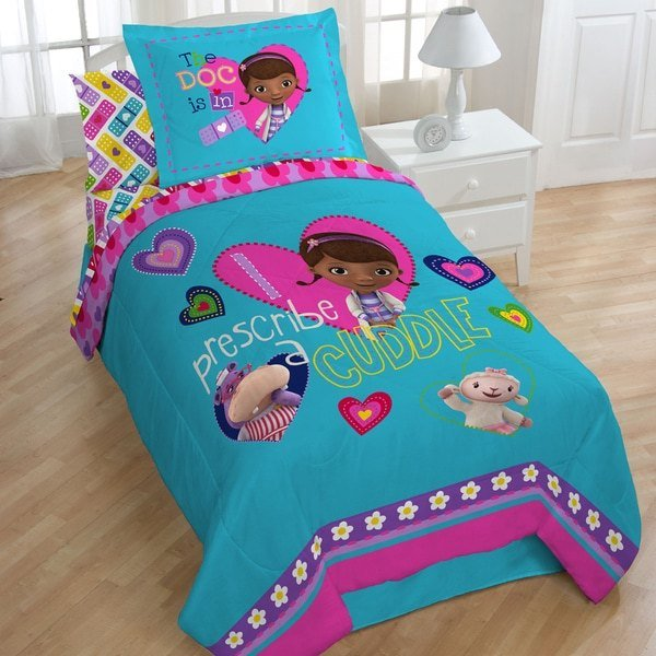 Best Shop Doc Mcstuffins Caring Twin Size 4 Piece Bed In A Bag With Pictures