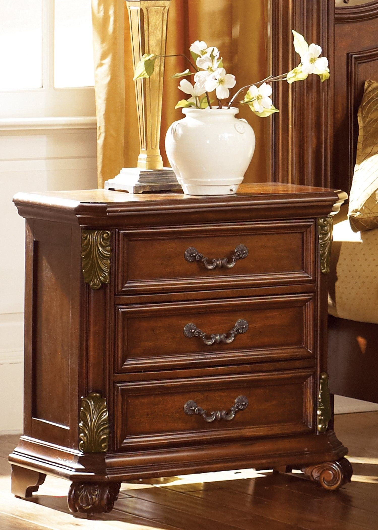 Best Liberty Antique Ivory 3 Drawer Nightstand Free Shipping With Pictures