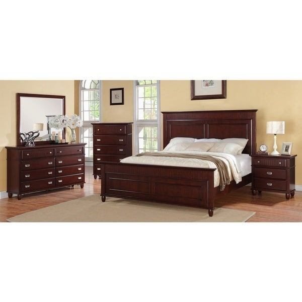 Best Shop Picket House Sutton 5 Piece Rich Cherry Bedroom Set With Pictures