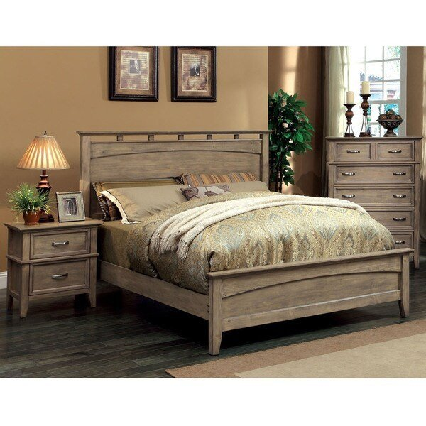 Best Shop Seashore Transitional Weathered Oak 3 Piece Bedroom With Pictures