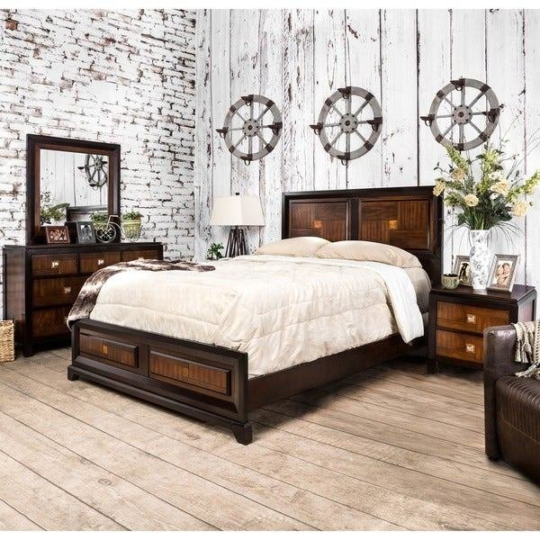 Best Shop Furniture Of America Duo Tone 4 Piece Acacia And With Pictures