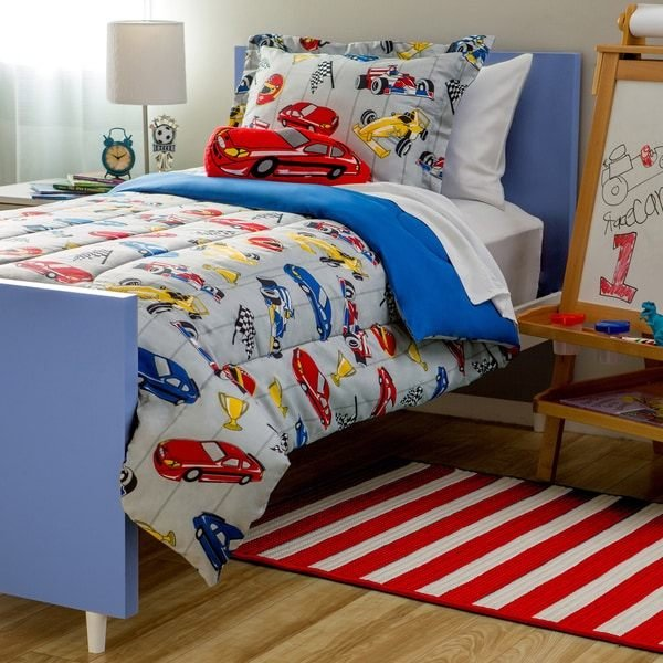 Best Shop Kids Collection Race Car 4 Piece Comforter Set Free Shipping On Orders Over 45 With Pictures