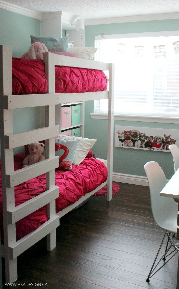 Best Girl S Room Makeover Reveal With Built In Storage With Pictures