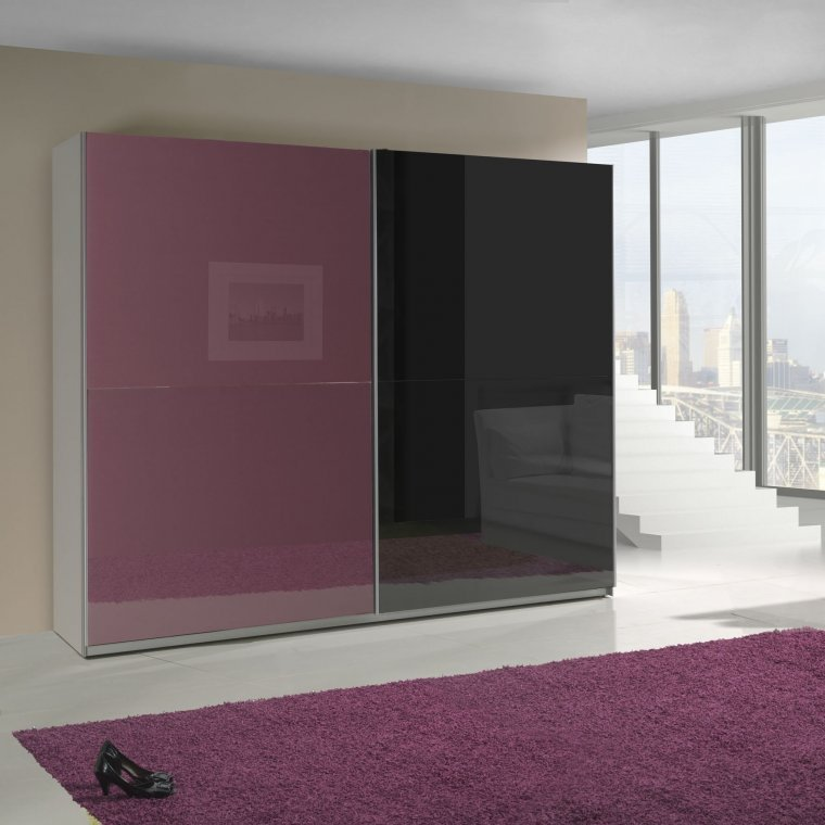 Best Purple And Black Cabinet High Gloss Almond Furniture With Pictures