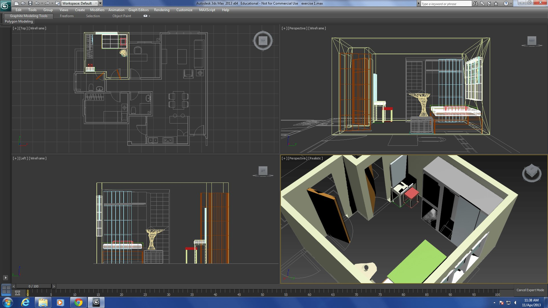 Best Wk3 3D Max Drawing The Interior With Pictures