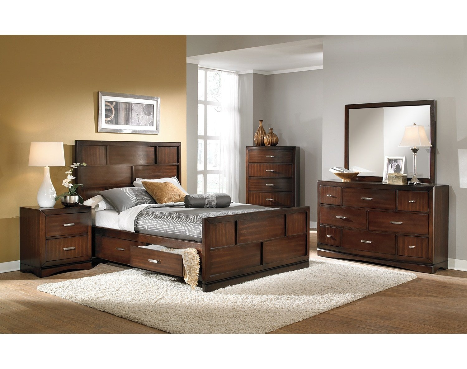 Best The Toronto Collection Pecan Value City Furniture And With Pictures