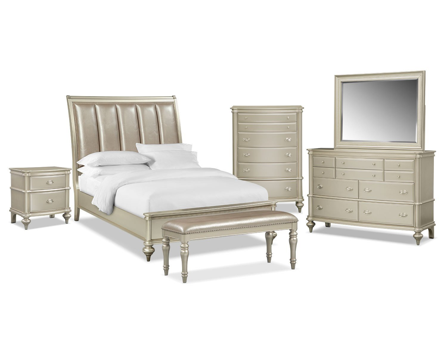 Best The Esquire Bedroom Collection Platinum Value City With Pictures