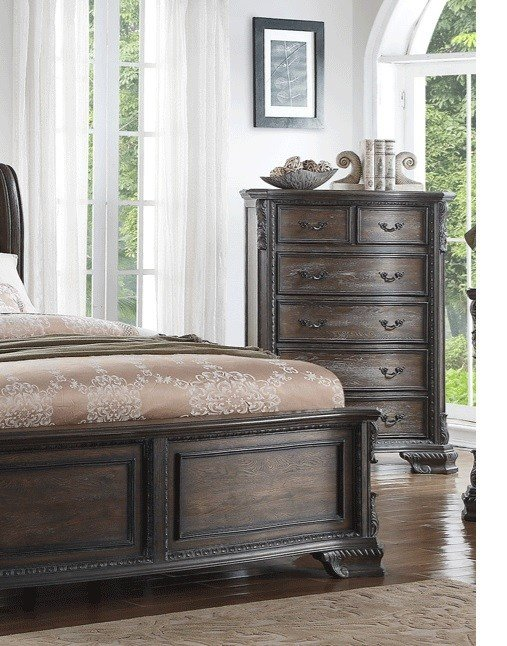 Best Sheffield Bedroom Collection Antique Gray Finish B1120 With Pictures