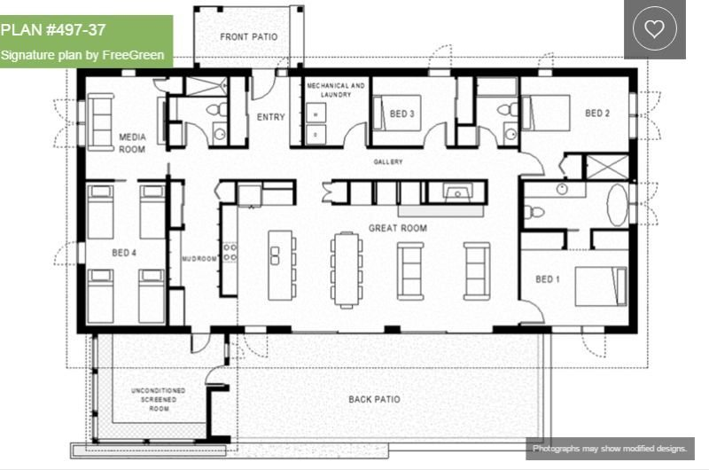 Best Single Story 4 Bedroom House Plans Houz Buzz With Pictures