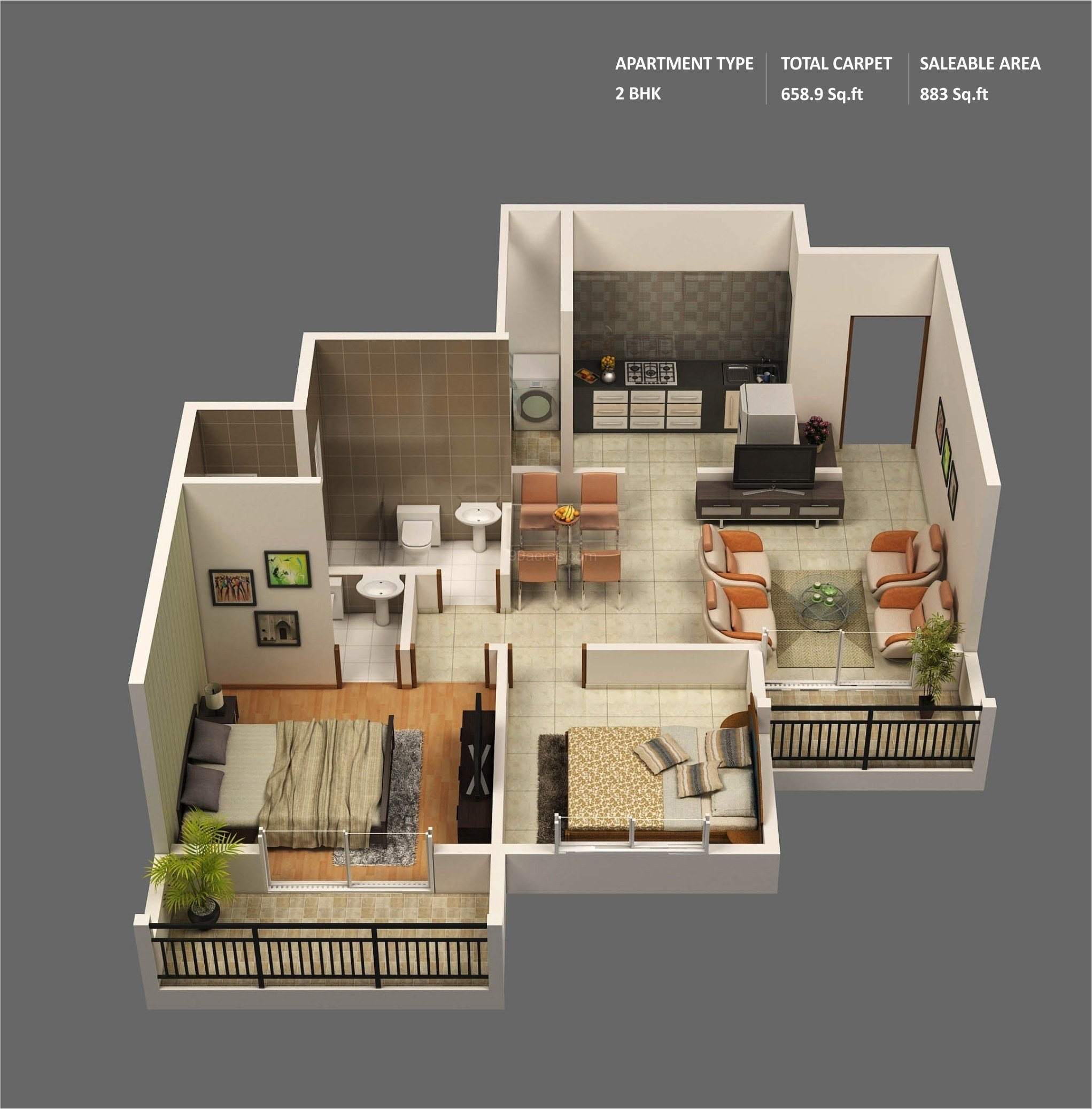 """Best 50 Two """"2"""" Bedroom Apartment House Plans With Pictures"""