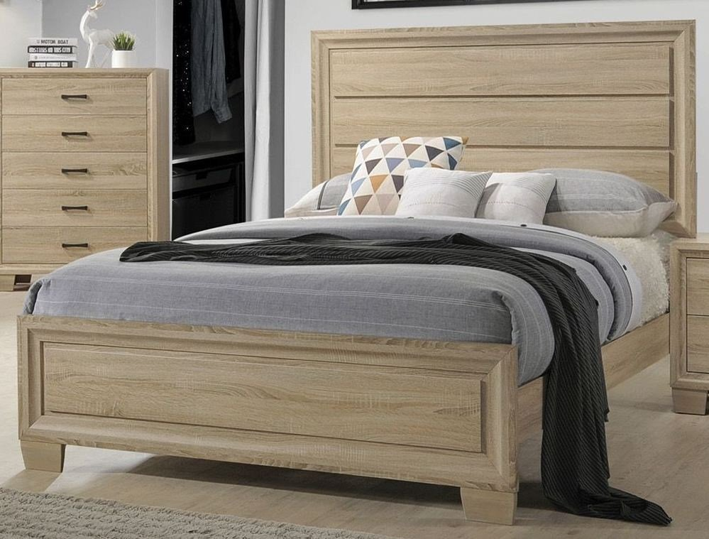 Best Coaster Vernon White Washed Oak Panel Bedroom Set Vernon With Pictures