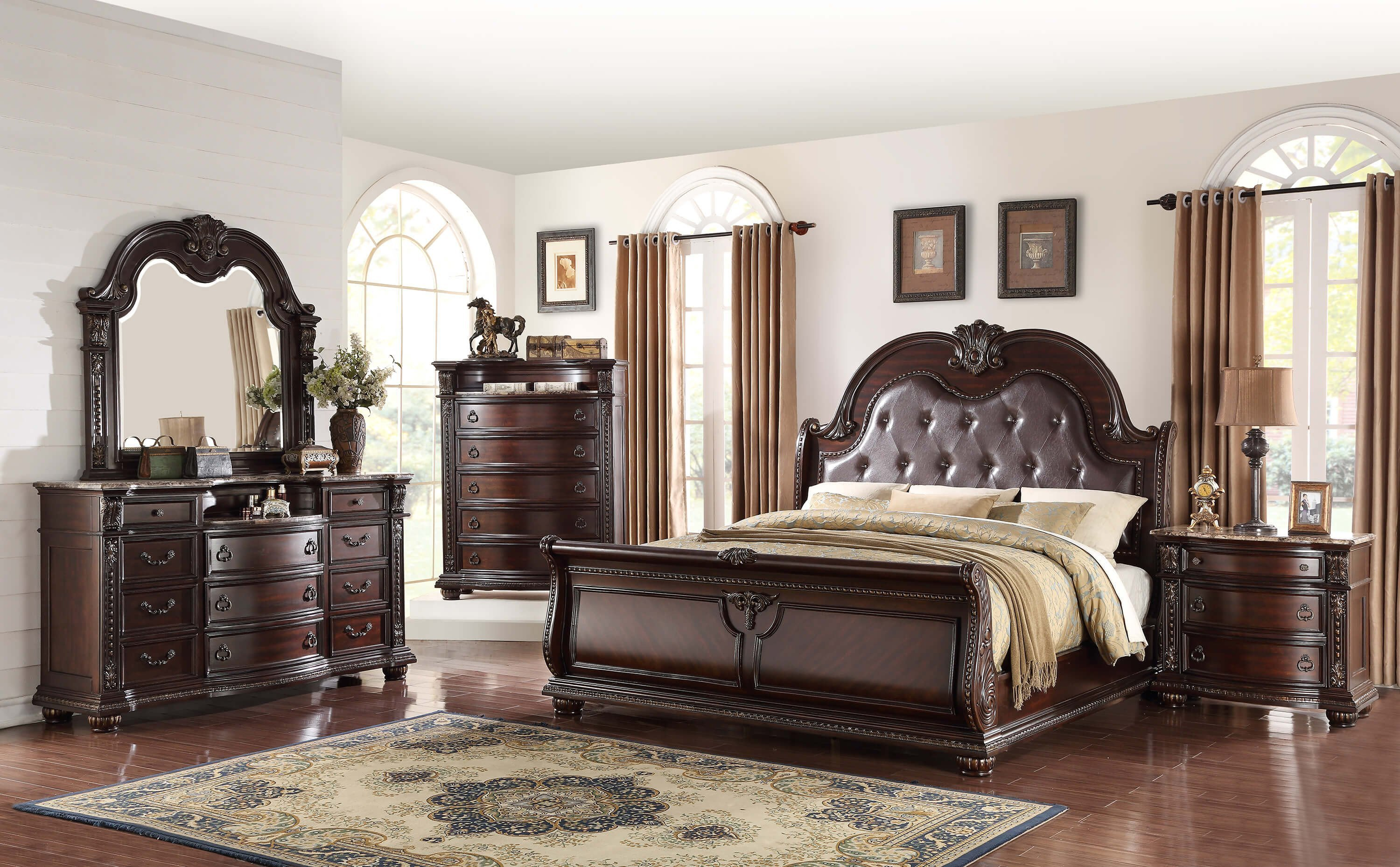 Best Crown Mark Stanley Queen Bedroom Set My Furniture Place With Pictures