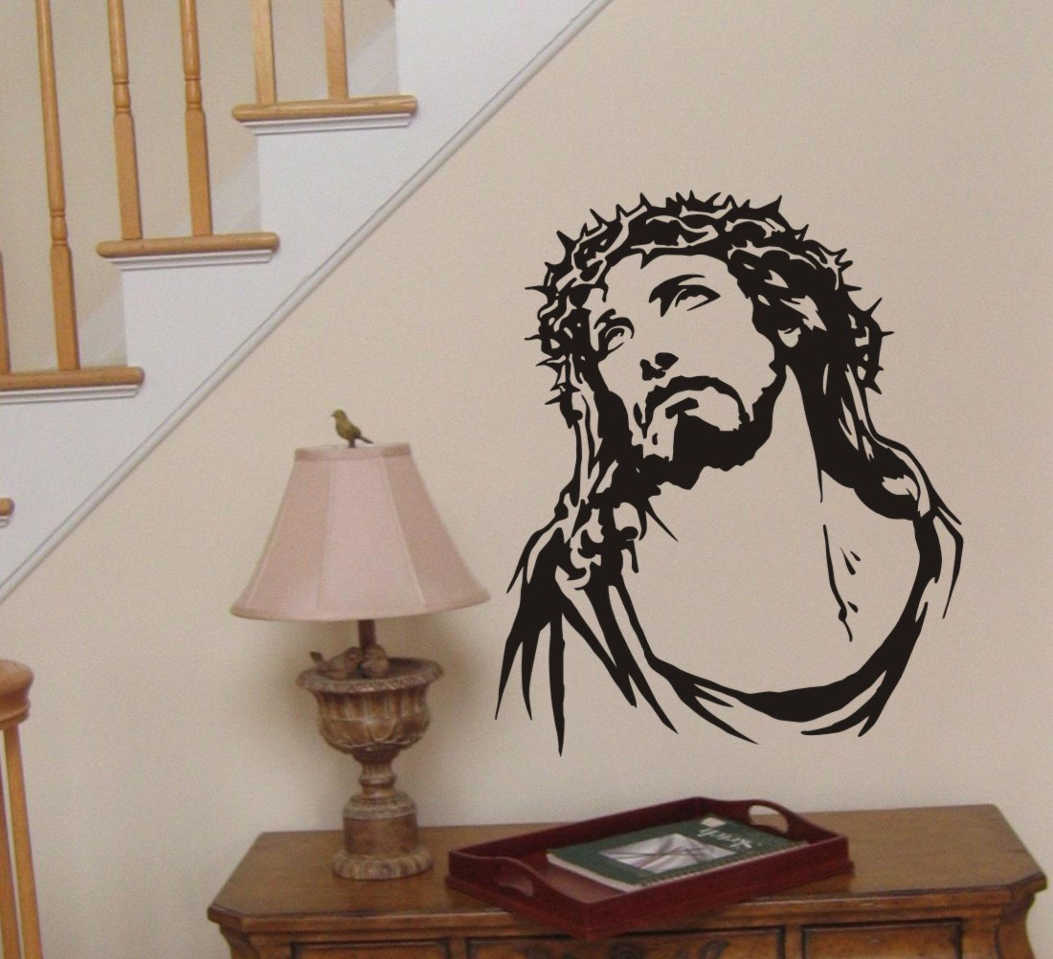 Best Jesus Wall Sticker Crown Of Thorns Wall Decal 14 99 With Pictures