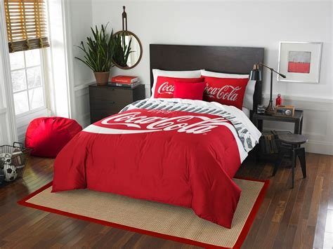 Best Coca Cola Bedding Coke Comforter Sheet Set Obedding Com With Pictures