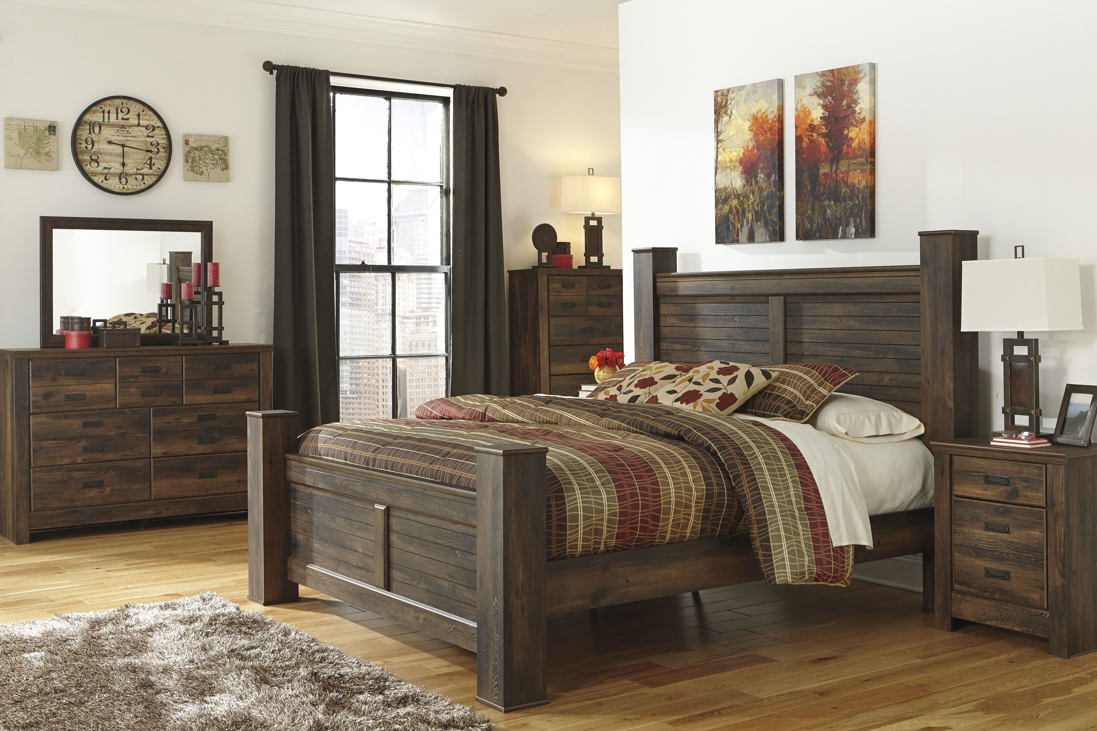 Best Ashley Furniture Quinden 2Pc Bedroom Set With Queen Poster With Pictures
