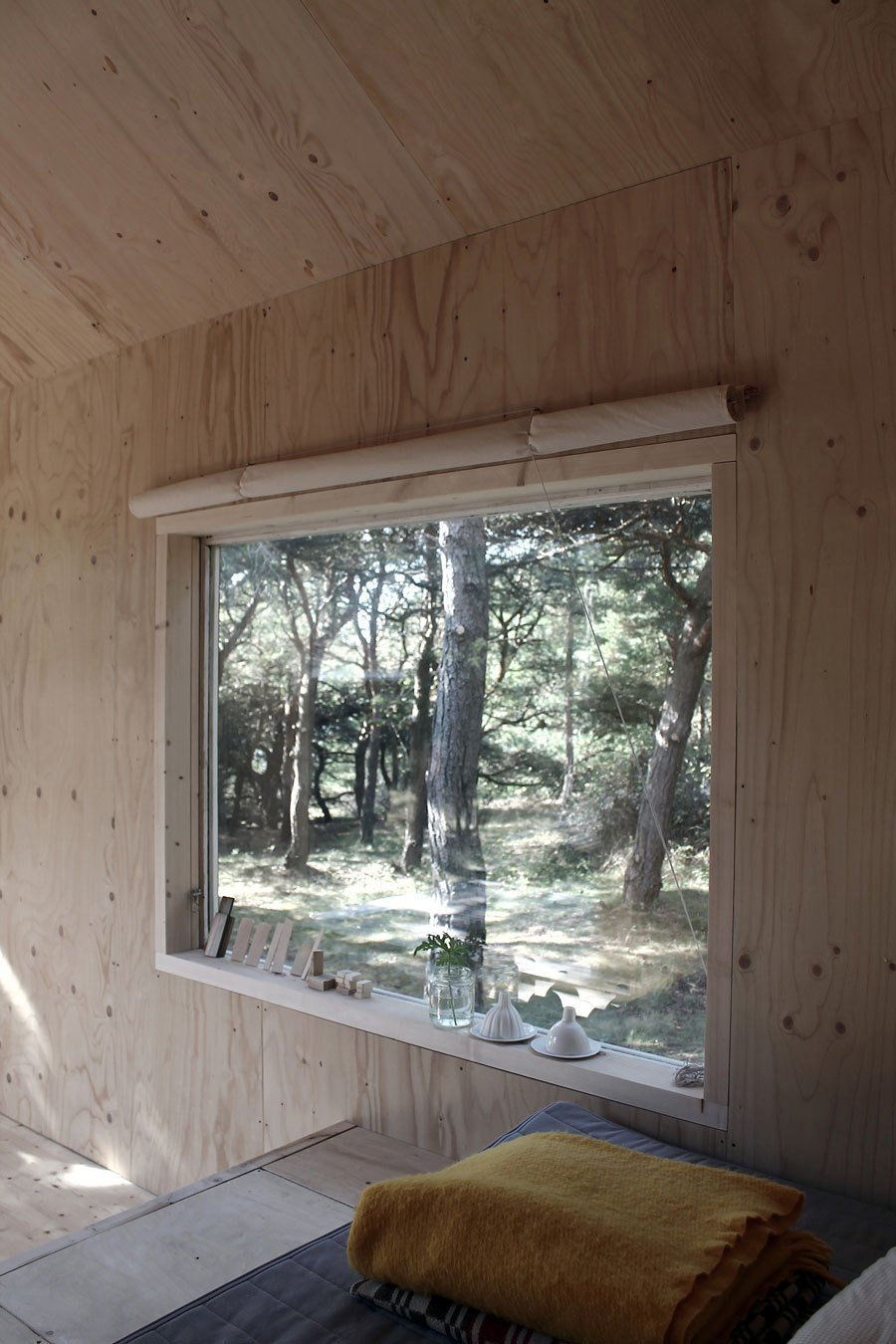 Best Compact Plywood And Pine Cabin With Attached Sauna With Pictures