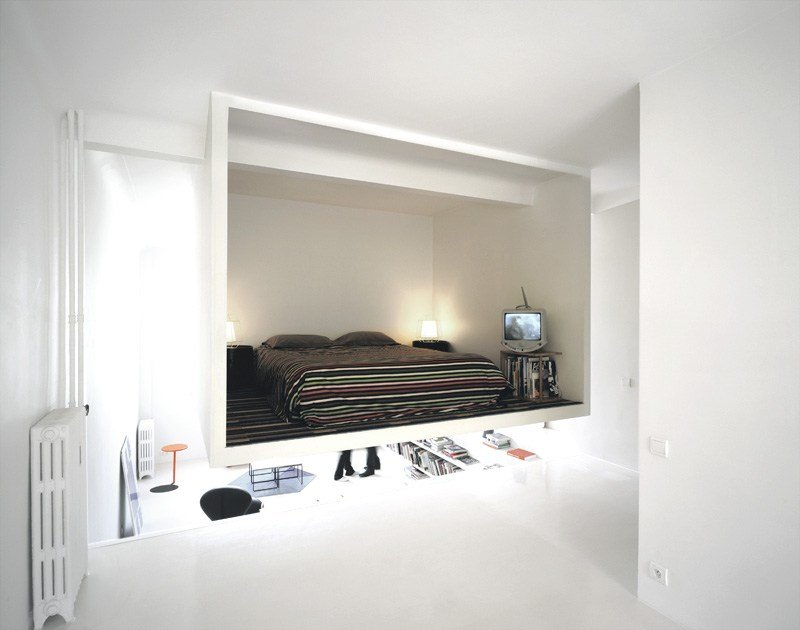 Best Super Cool Suspended Bedroom Creatively Maximizes 50M2 With Pictures