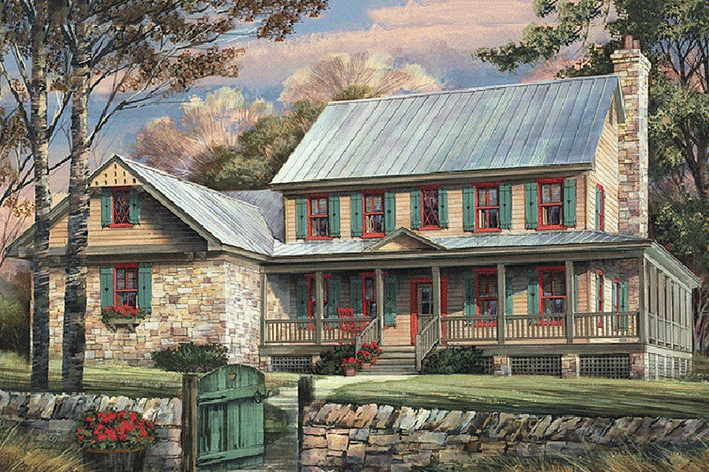 Best Country Style House Plan 5 Beds 4 Baths 3039 Sq Ft Plan With Pictures