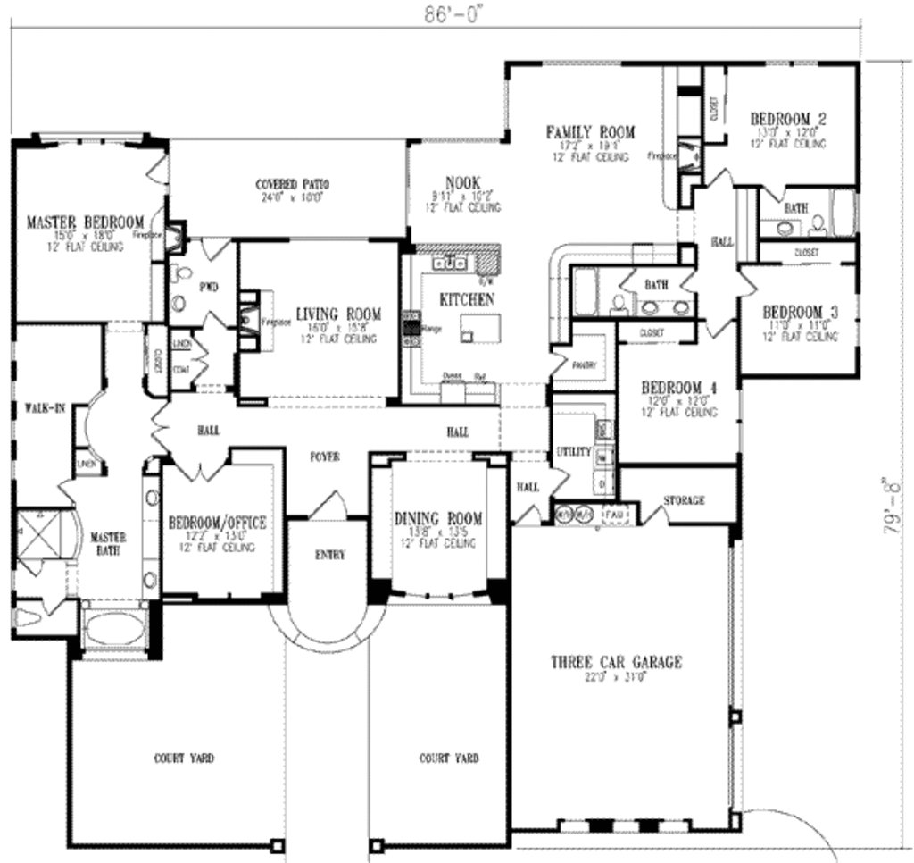 Best European Style House Plan 5 Beds 3 5 Baths 3619 Sq Ft Plan 1 867 With Pictures