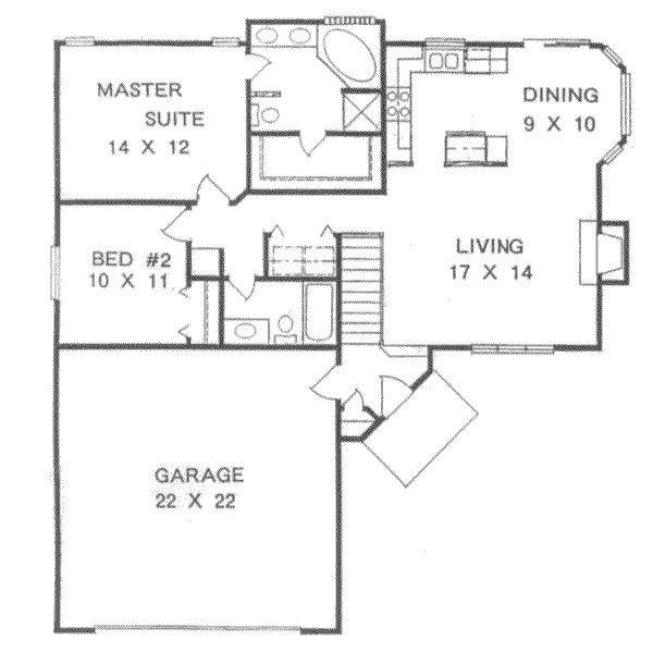 Best Ranch Style House Plan 2 Beds 2 00 Baths 1076 Sq Ft Plan 58 105 With Pictures