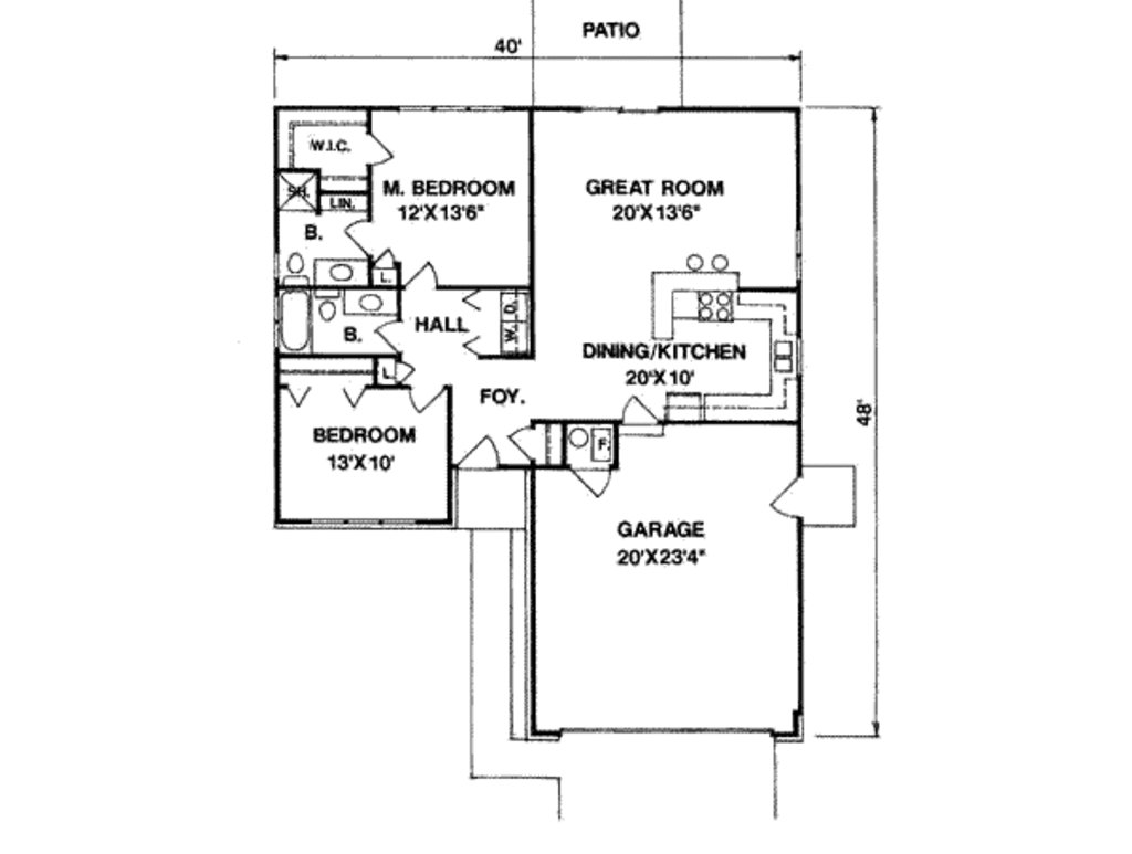 Best Ranch Style House Plan 2 Beds 2 00 Baths 1100 Sq Ft Plan 116 171 With Pictures