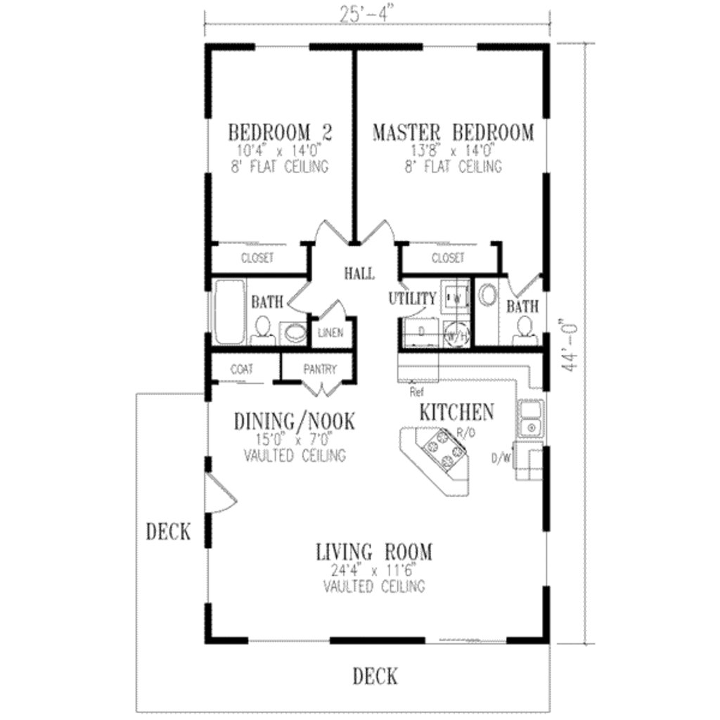 Best Ranch Style House Plan 2 Beds 1 50 Baths 1115 Sq Ft Plan 1 172 With Pictures