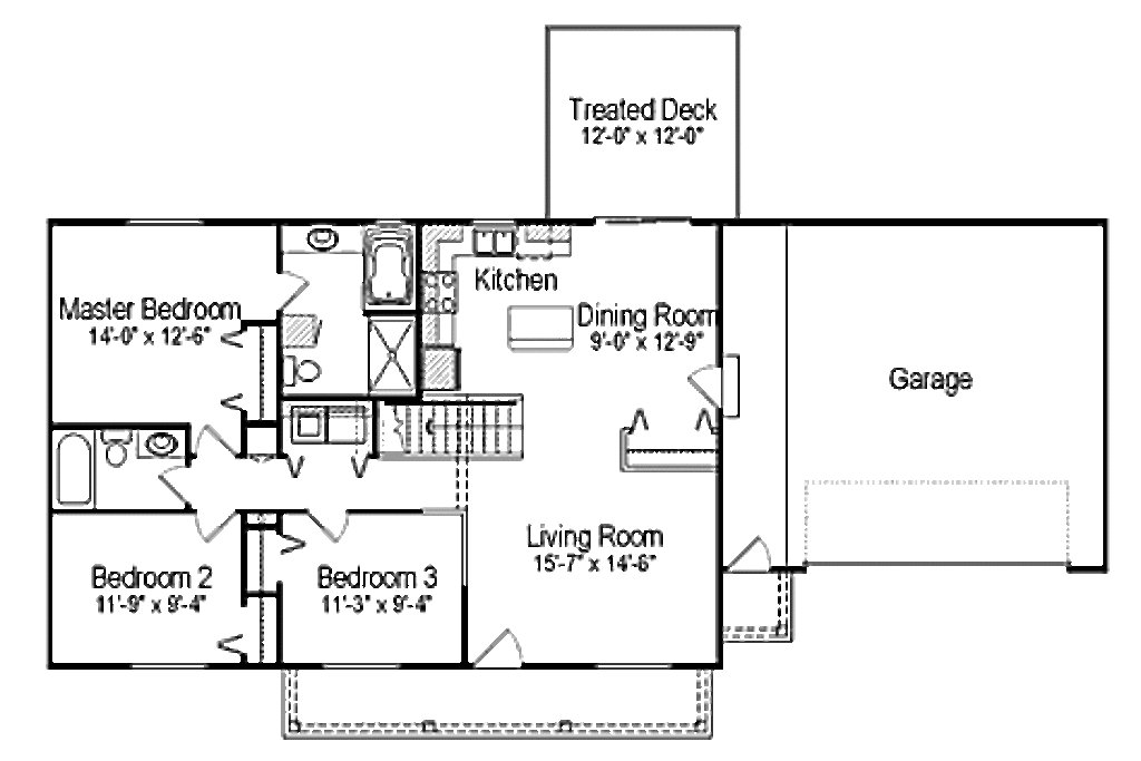 Best Ranch Style House Plan 3 Beds 2 00 Baths 1176 Sq Ft Plan With Pictures