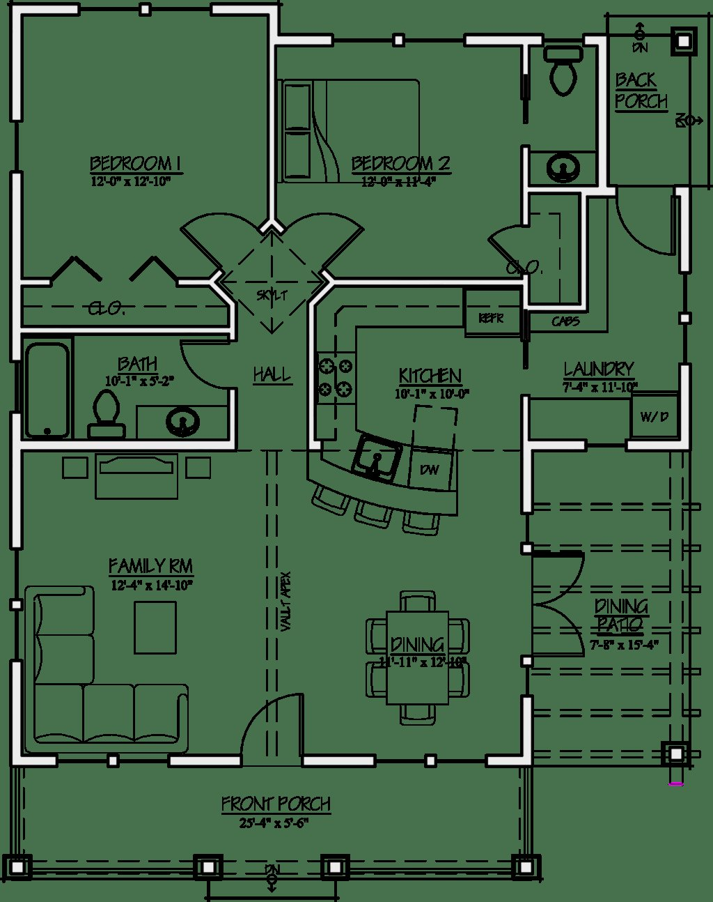Best Craftsman Style House Plan 2 Beds 1 5 Baths 1044 Sq Ft With Pictures