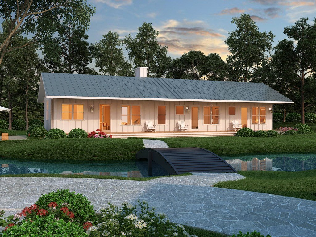 Best Ranch Style House Plan 2 Beds 2 Baths 1480 Sq Ft Plan 888 4 With Pictures