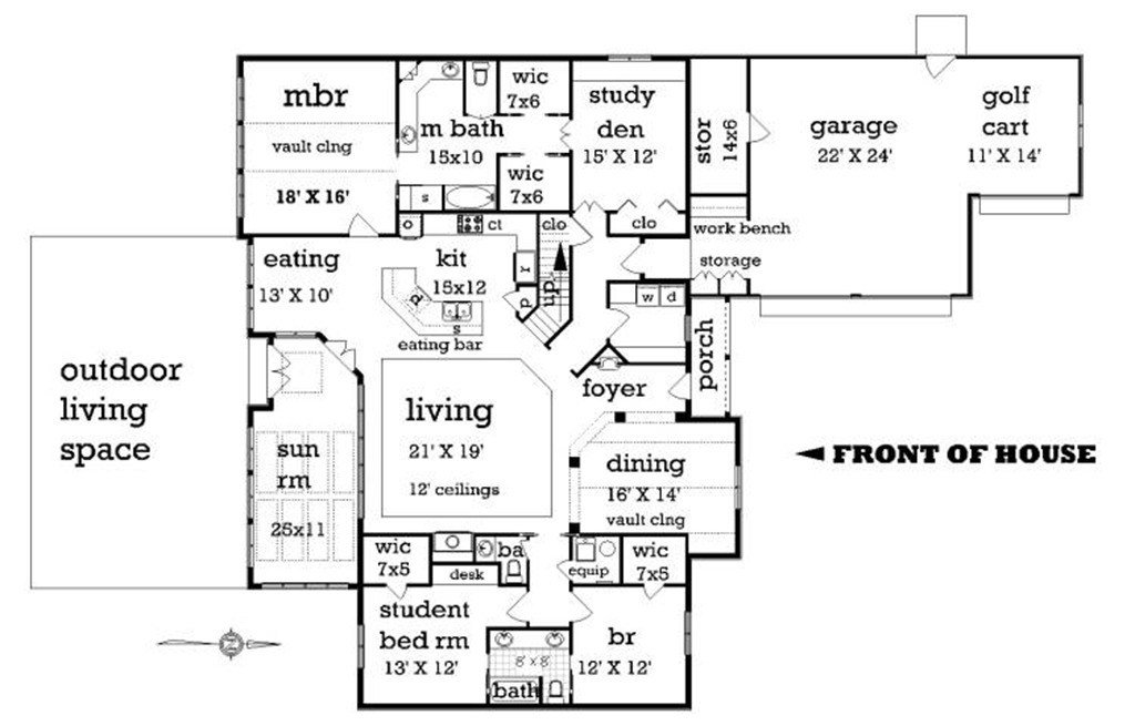 Best Craftsman Style House Plan 4 Beds 2 50 Baths 2500 Sq Ft Plan 45 369 With Pictures