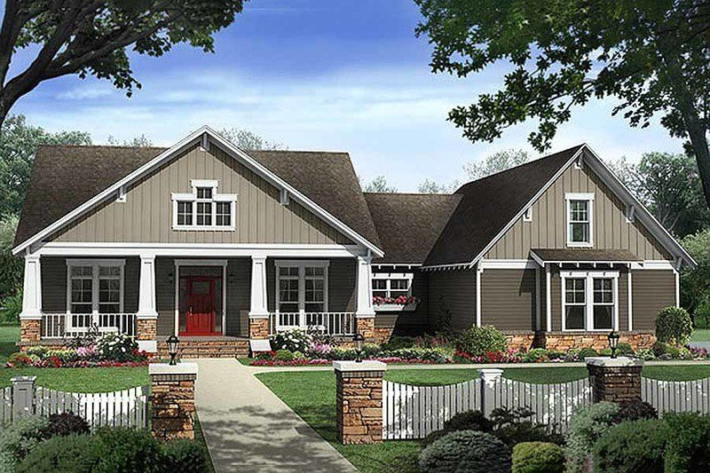 Best Craftsman Style House Plan 4 Beds 2 5 Baths 2400 Sq Ft With Pictures