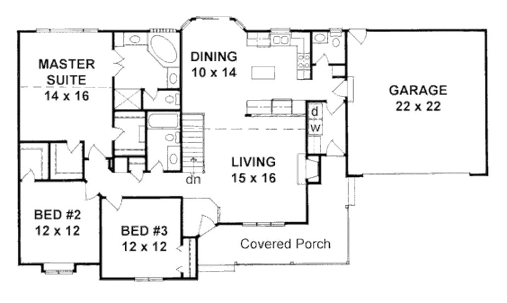 Best Ranch Style House Plan 3 Beds 2 50 Baths 1586 Sq Ft Plan With Pictures