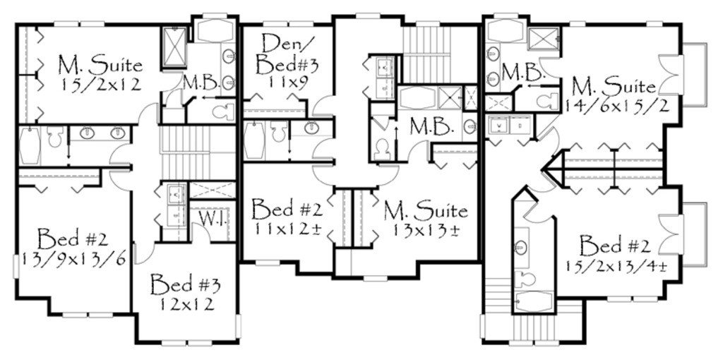 Best Craftsman Style House Plan 8 Beds 6 50 Baths 4658 Sq Ft With Pictures