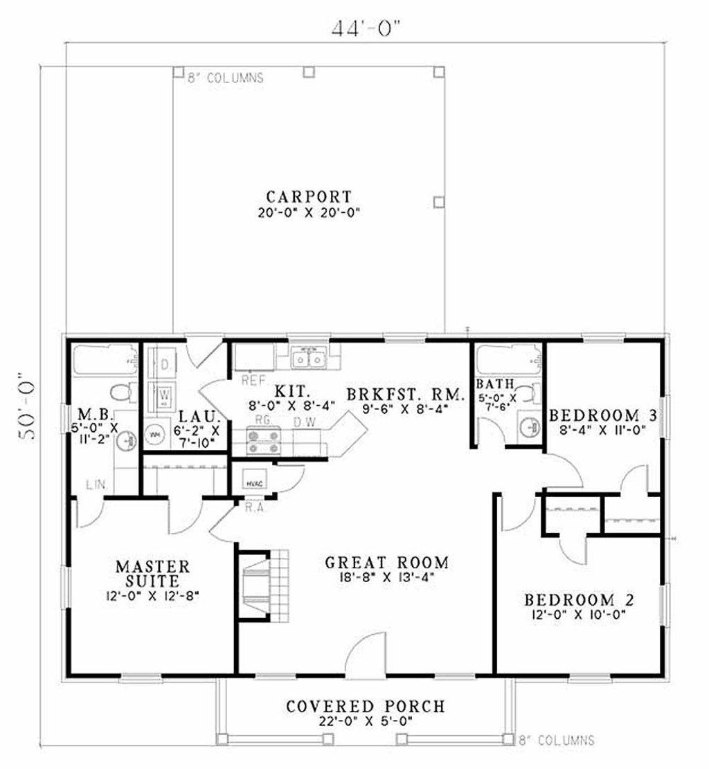 Best Traditional Style House Plan 3 Beds 2 Baths 1100 Sq Ft With Pictures