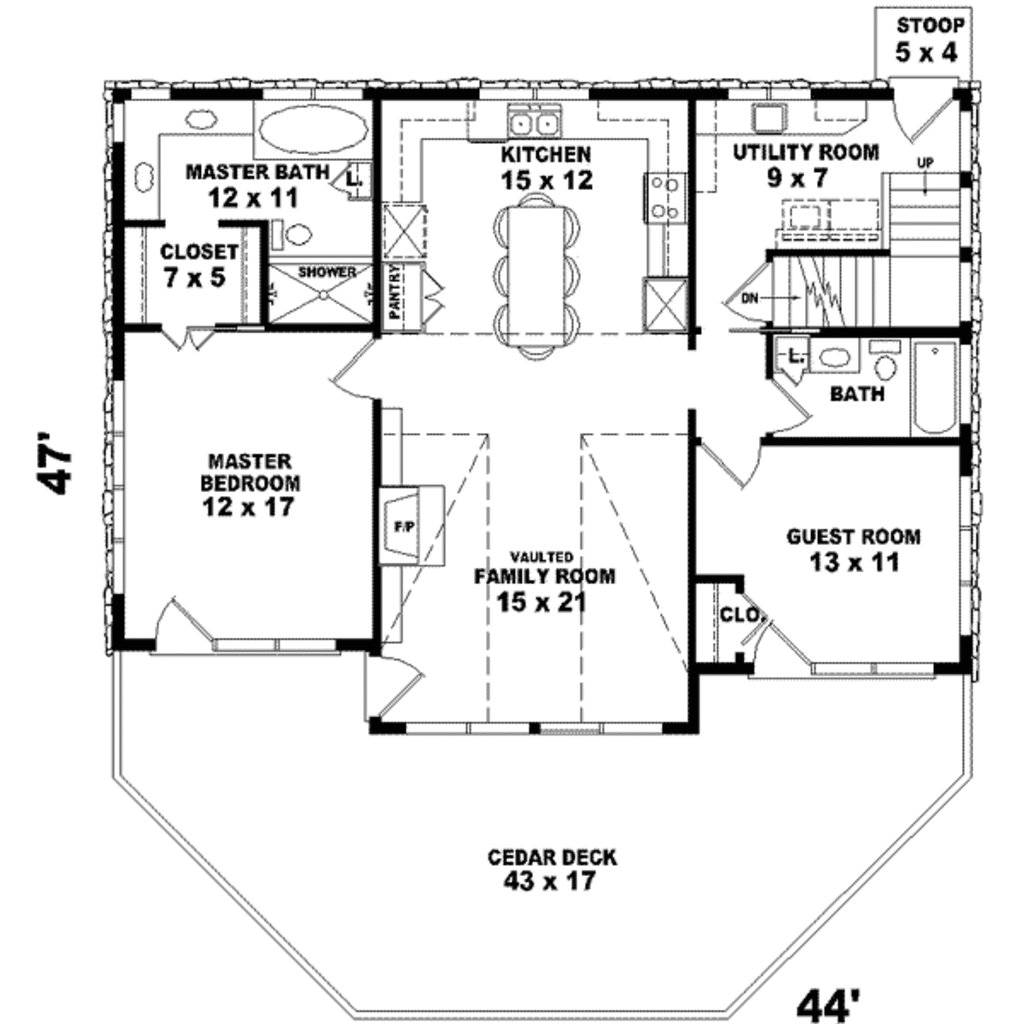 Best Country Style House Plan 2 Beds 2 00 Baths 1280 Sq Ft With Pictures Original 1024 x 768