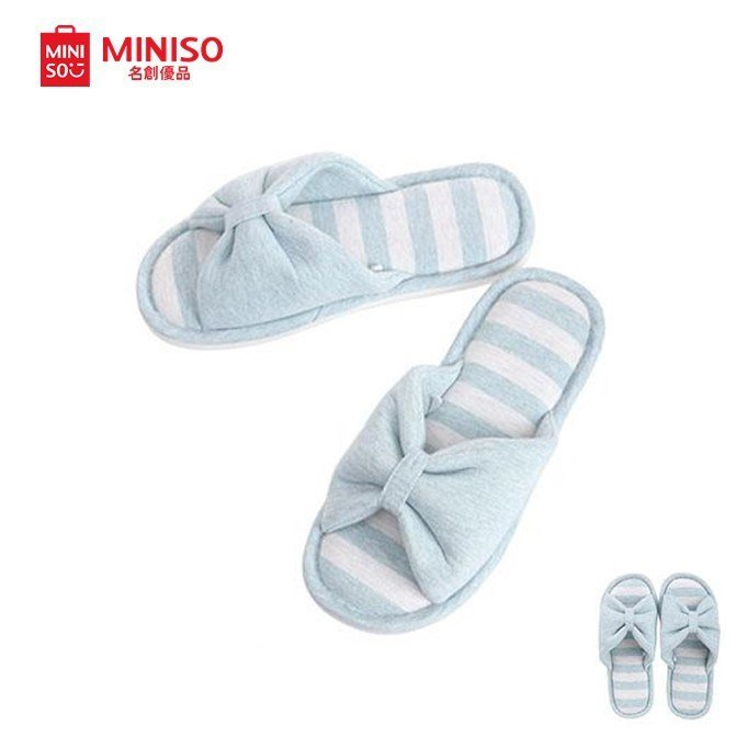 Best Miniso Women Bedroom Slippers Blue Shopee Singapore With Pictures