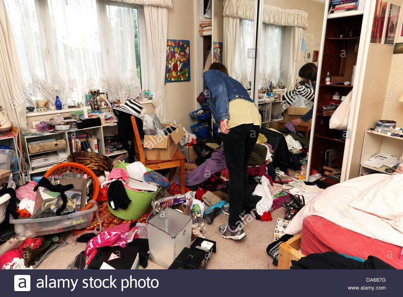 Best Teenage Girl In Her Messy Bedroom England Stock Photo With Pictures