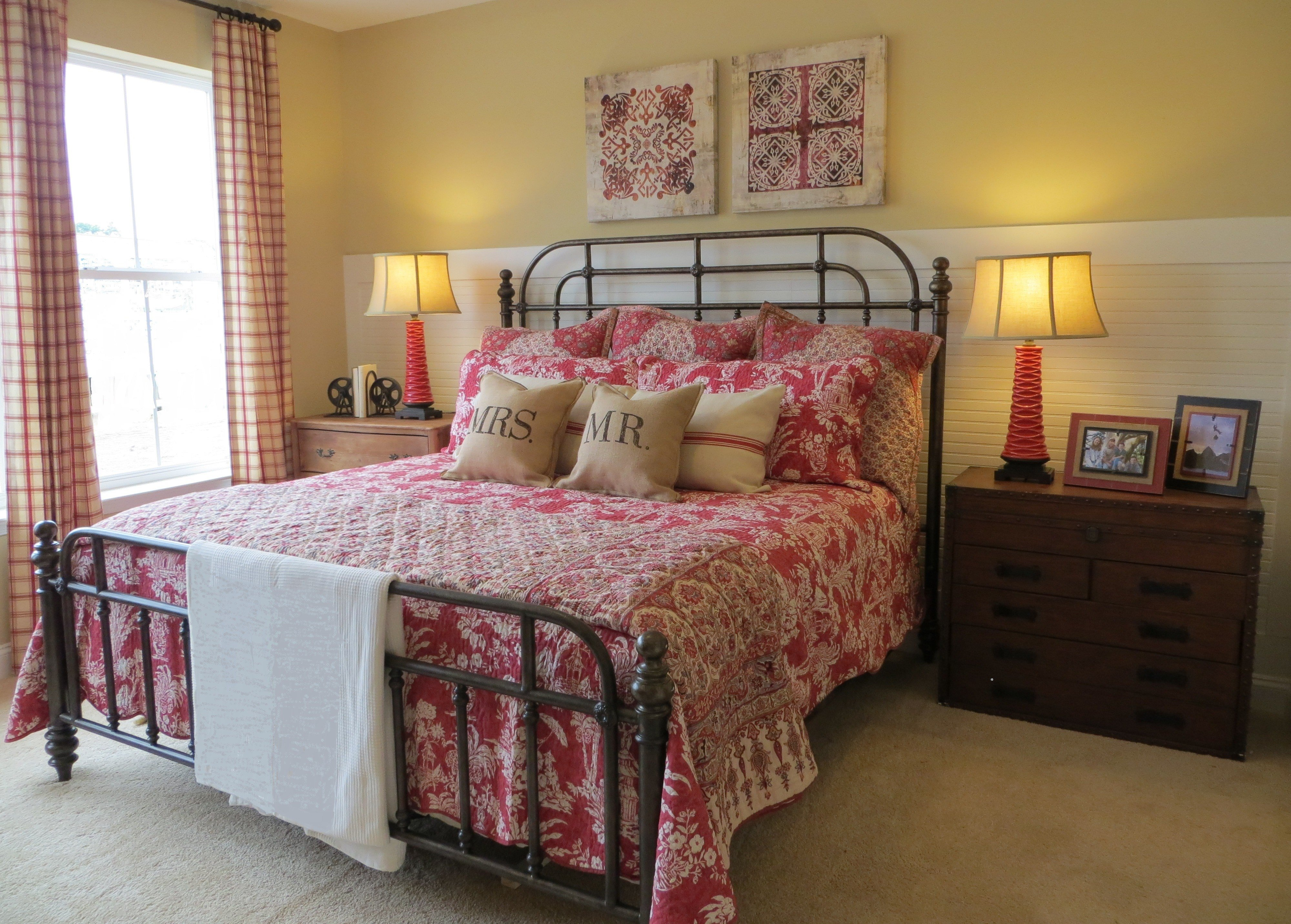 Best Red Tan And Cream Causual Cottage Style Www Design With Pictures