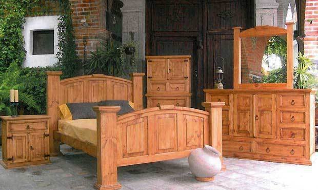 Best Traditional Style Rustic Knotty Pine Bedroom Set Real With Pictures