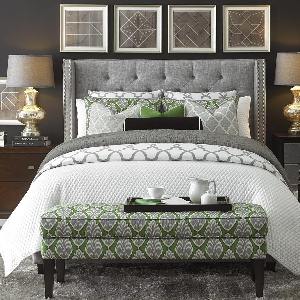 Best Dublin Fabric Queen Bed Custom Upholstered Beds With Pictures