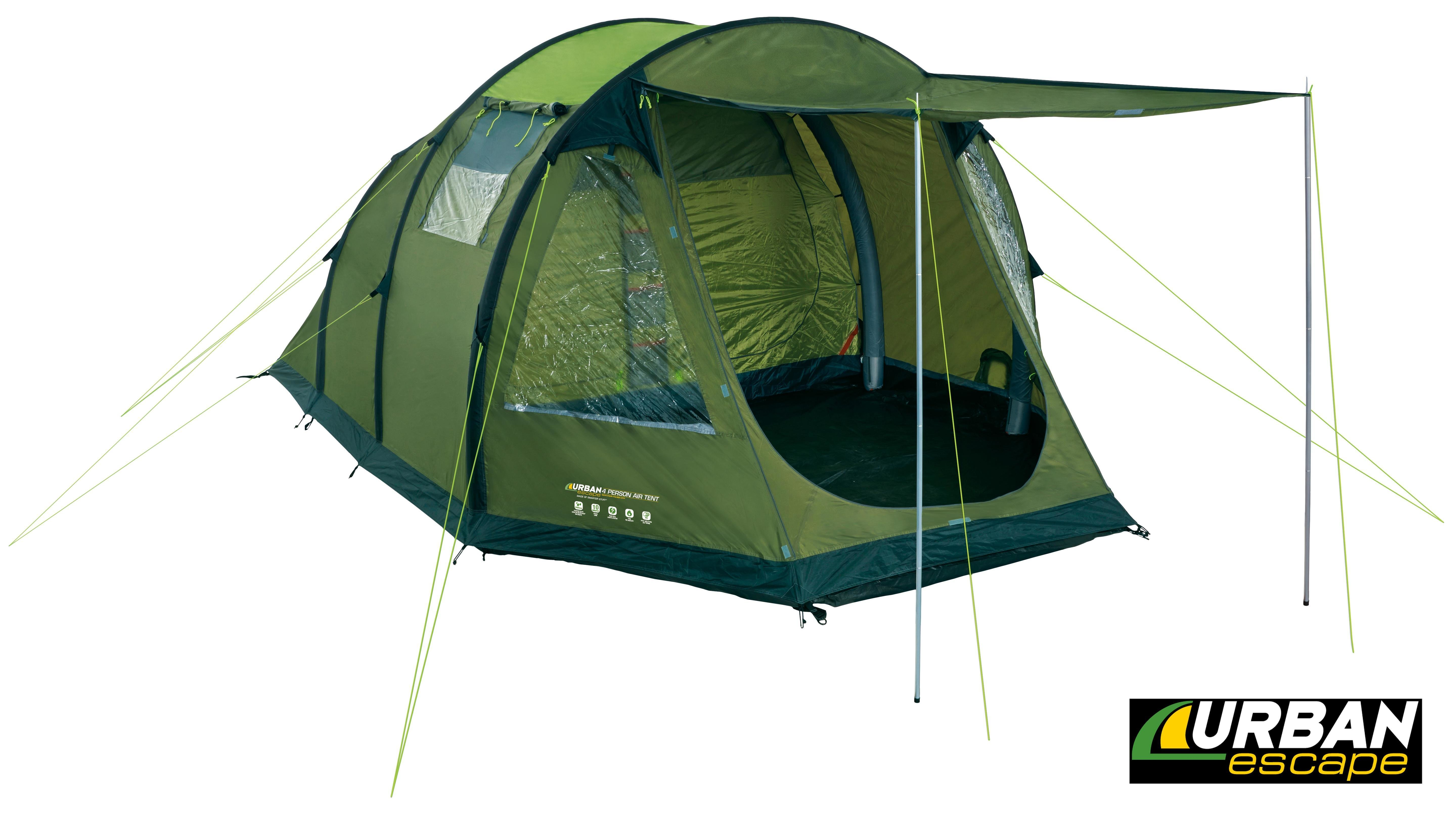 Best Urban Escape 4 Man Inflatable Tent 2 Bedrooms Double With Pictures