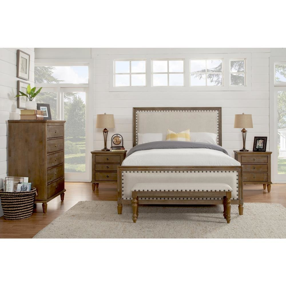 Best Luxeo Cambridge 5 Piece King Bedroom Set With Solid Wood With Pictures