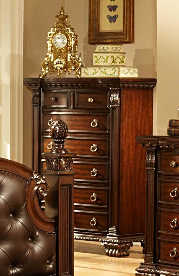 Best Homelegance Orleans Bedroom Set Cherry B2168 Bed Set At With Pictures