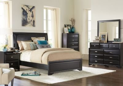 Best Belcourt Black 5 Pc Queen Upholstered Bedroom Queen With Pictures