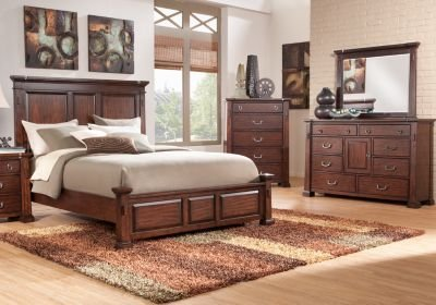 Best Clairfield Tobacco 7 Pc King Panel Bedroom King Bedroom With Pictures