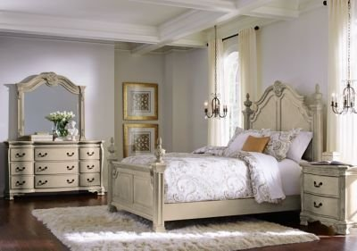 Best Cortinella Cream 5 Pc King Poster Bedroom King Bedroom With Pictures