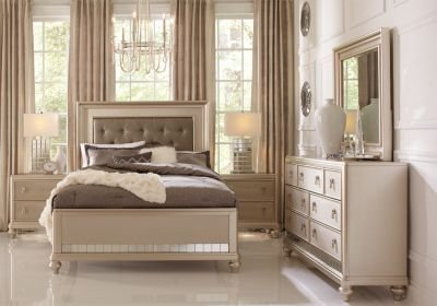 Best Sofia Vergara Paris Silver 5 Pc Queen Bedroom Queen Bedroom Sets Colors With Pictures