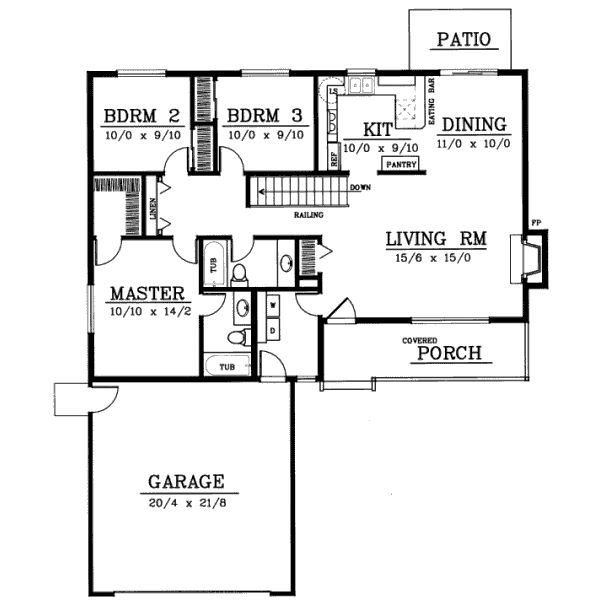 Best Ranch Style House Plans 1314 Square Foot Home 1 Story With Pictures