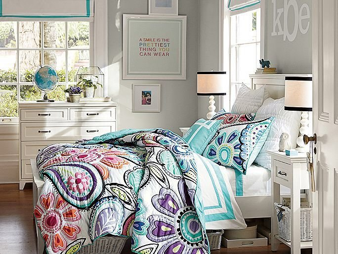Best Girl Room Bedding Pottery Barn T**N Z S Color New With Pictures