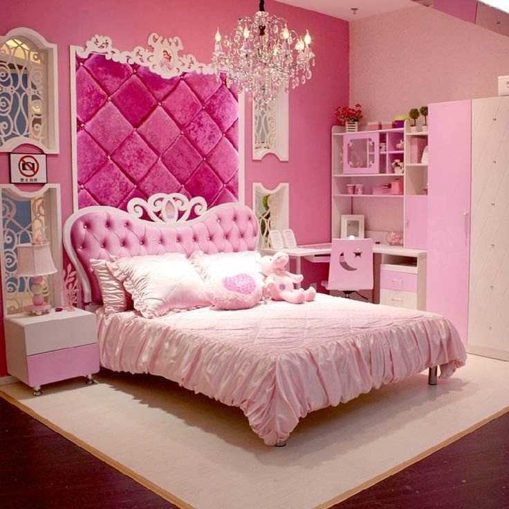 Best European Style Mdf Pink Princess Girl 4Pcs Bedroom With Pictures